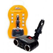 Разветвитель на 2 гнезда + 2 USB (трансформер)