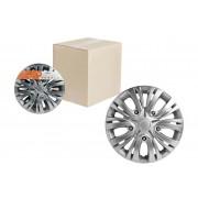 Колпаки колесные 13 дюймов Лион серебристый, карбон