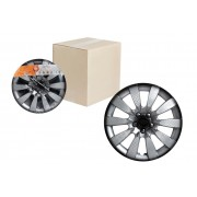Колпаки колесные 13 дюймов Торнадо +, серебристо-черный, карбон