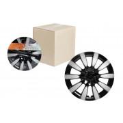 Колпаки колесные 13 дюймов Торнадо Т, серебристый-черный, карбон