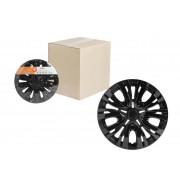 Колпаки колесные 14 дюймов Лион, черный глянец, карбон