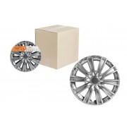 Колпаки колесные 14 дюймов Торнадо, серебристый, карбон