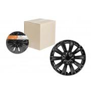 Колпаки колесные 14 дюймов Торнадо, черный глянец, карбон