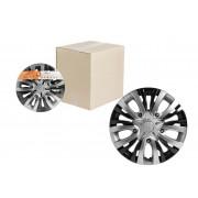 Колпаки колесные 15 дюймов Лион Т, серебристый, черный, карбон