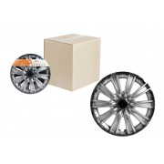 Колпаки колесные 15 дюймов Торнадо +, серебристо-черный, карбон