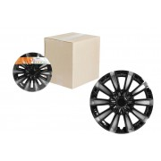 Колпаки колесные 15 дюймов Торнадо Т, серебристо-черный, карбон